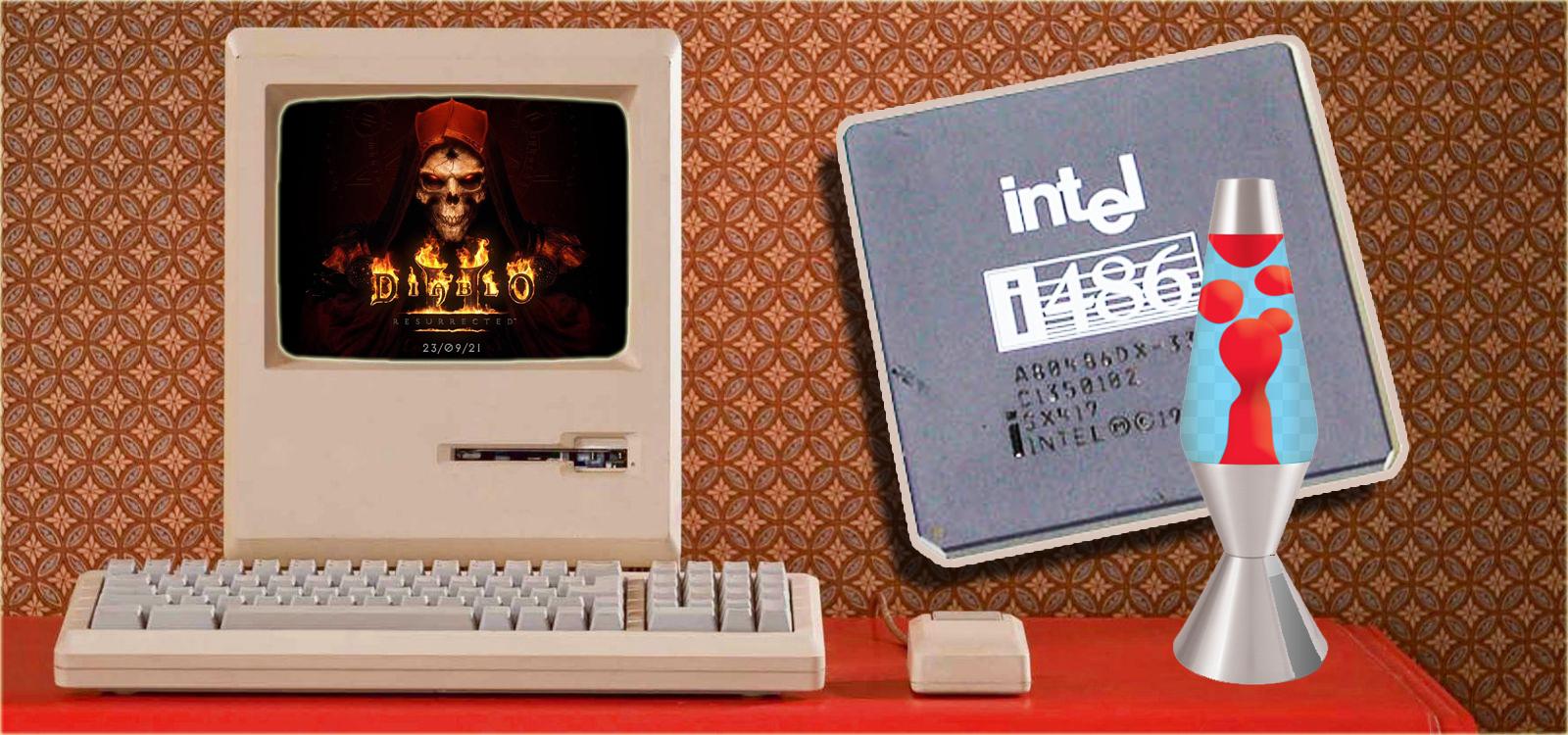 Попытка запустить Diablo 2 на Intel486DX процессоре