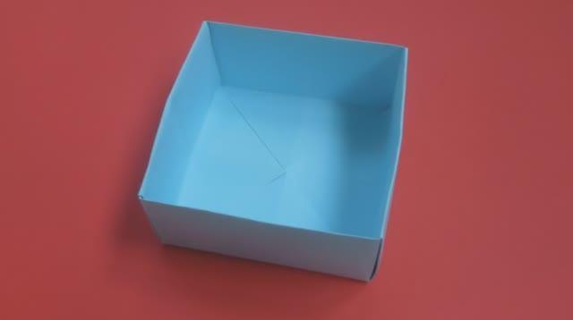 Как сделать коробочку из бумаги. Оригами коробка.mp4