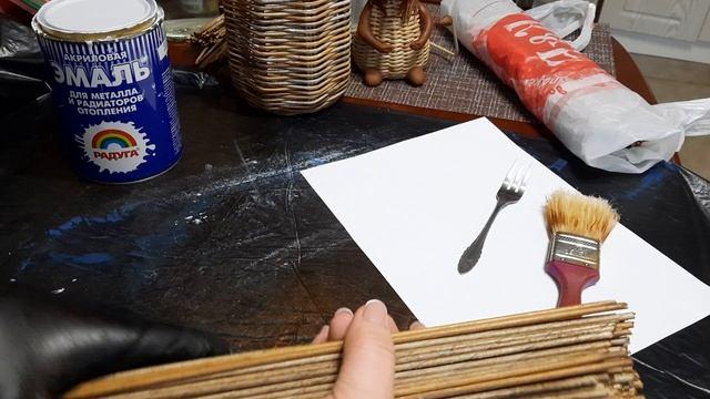 Эффект состаривания бумажной лозы