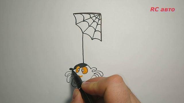 Как нарисовать паука/how to draw а Spider