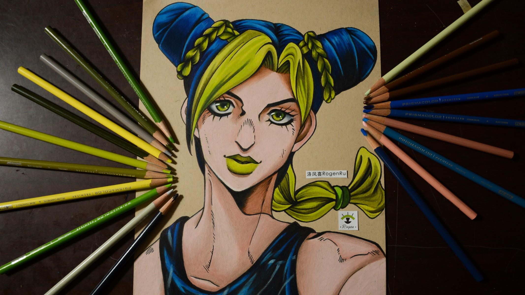 40 Как рисовать аниме с помощью цветных карандашей [JOJO The Jolyne Cujoh]