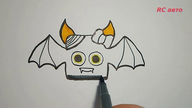 Как нарисовать паука/how to draw а bat