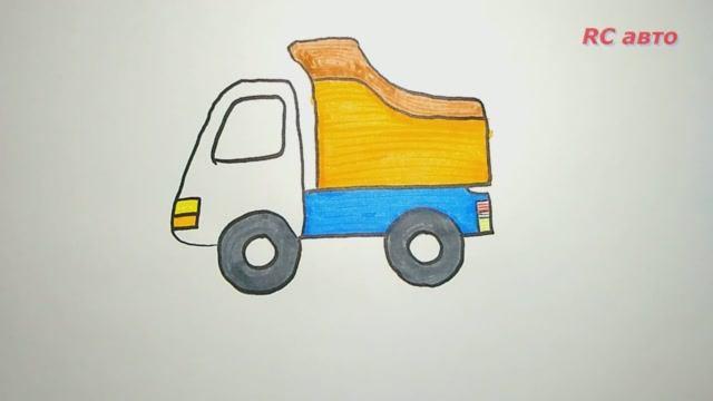Как нарисовать грузовик _ how to draw Draw a truck_ рисунки для срисовки