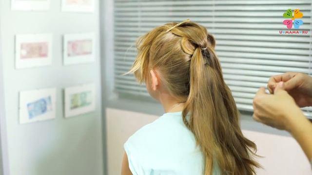 Прическа в школу для девочки /Французская коса за 10 минут/На каждый день/Быстро и красиво/