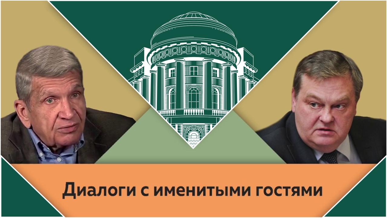 Ю.Н.Жуков и Е.Ю.Спицын в студии МПГУ.