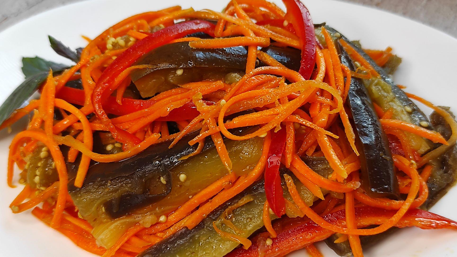 Улетная ЗАКУСКА из баклажанов. Маринованные БАКЛАЖАНЫ по-корейски, с морковью и болгарским перцем!