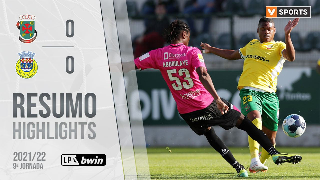 Highlights: Paços de Ferreira 0-0 Arouca (Liga 21/22 #9)