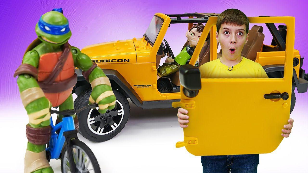 Черепашка Ниндзя Лео выбирает машину! Бен 10 освободил Автомастерскую. Игрушки машинки в ремонте