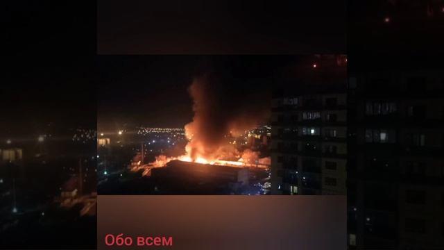В Воронеже загорелся склад