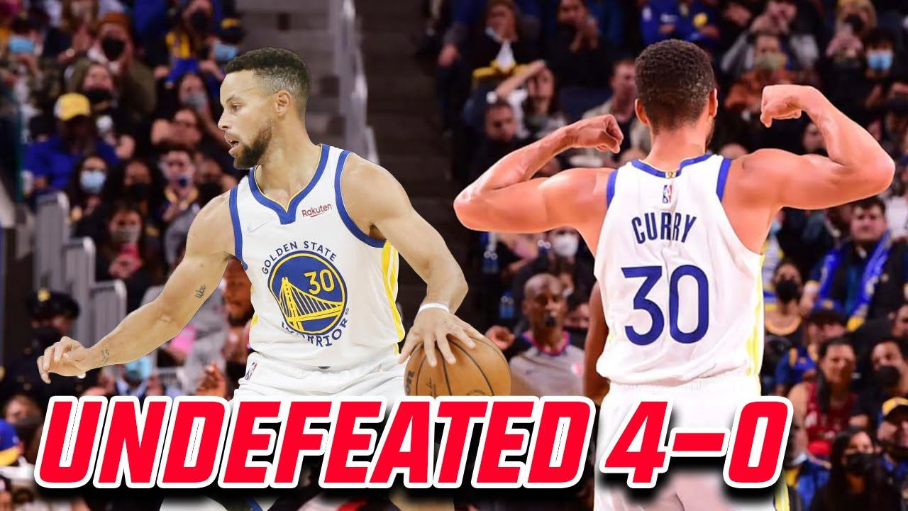 [SHOCK] Stephen Curry's Warriors have opened the season with four straight wins after past Thunder
