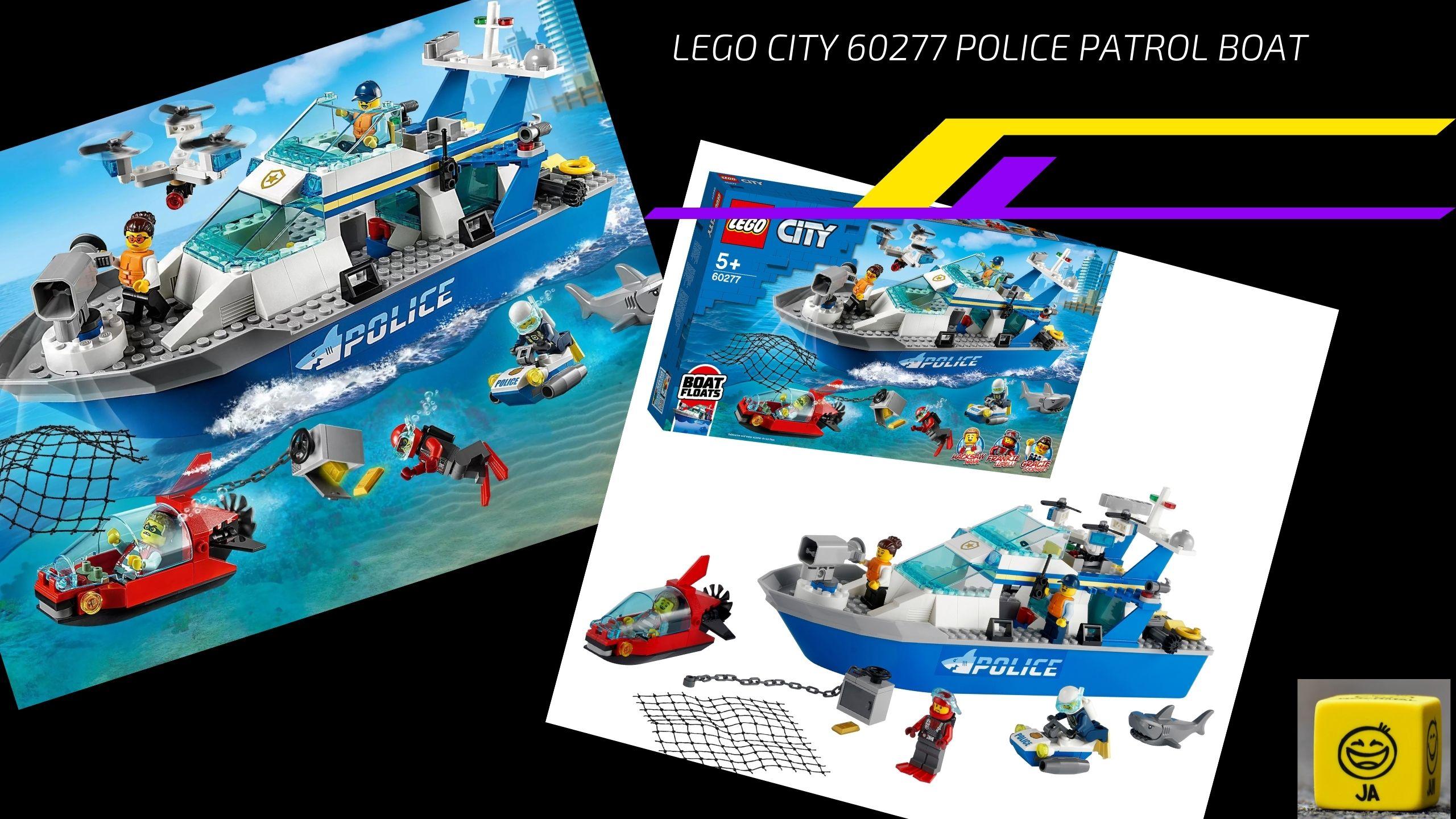 Lego City 60277 Police Patrol Boat. Сборка Лего  60277 Police Patrol Boat