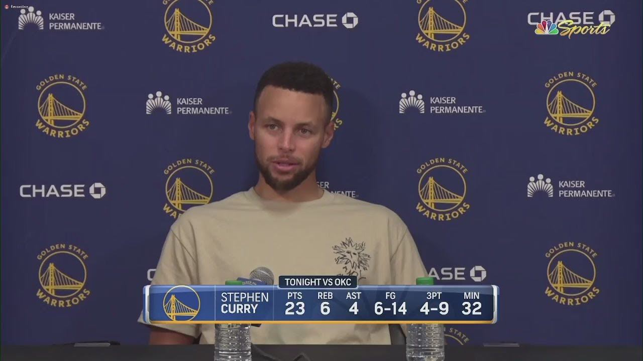 """Steph Curry (23 Pts) on Damion Lee: """"It's huge for us to have a spark like that off of the bench."""""""