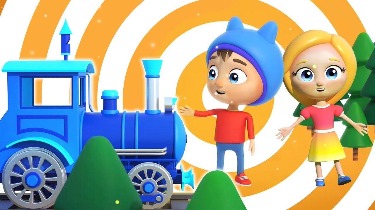 Песенки для детей - Мультики музыкальные Сина и Ло - Детская песенка про поезд