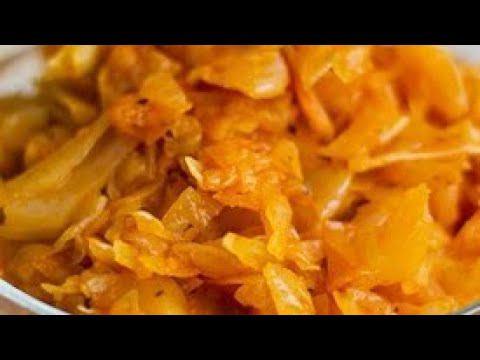 Как тушить капусту Тушёная капуста, пошаговый рецепт без мяса.