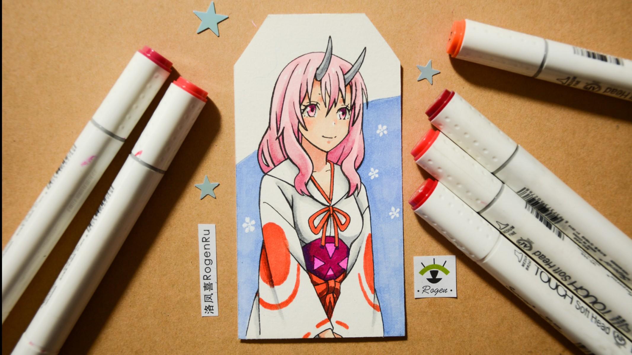 Рисование маркером аниме [41]