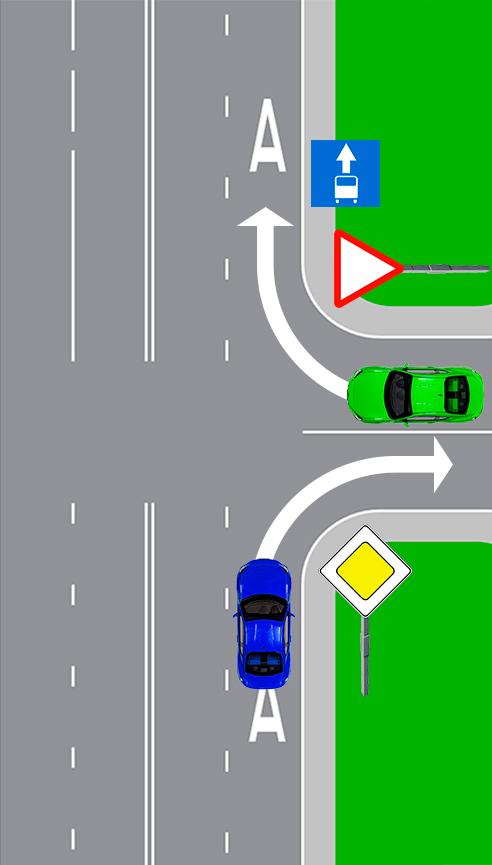 Кто из водителей, поворачивающих направо, нарушает правило?