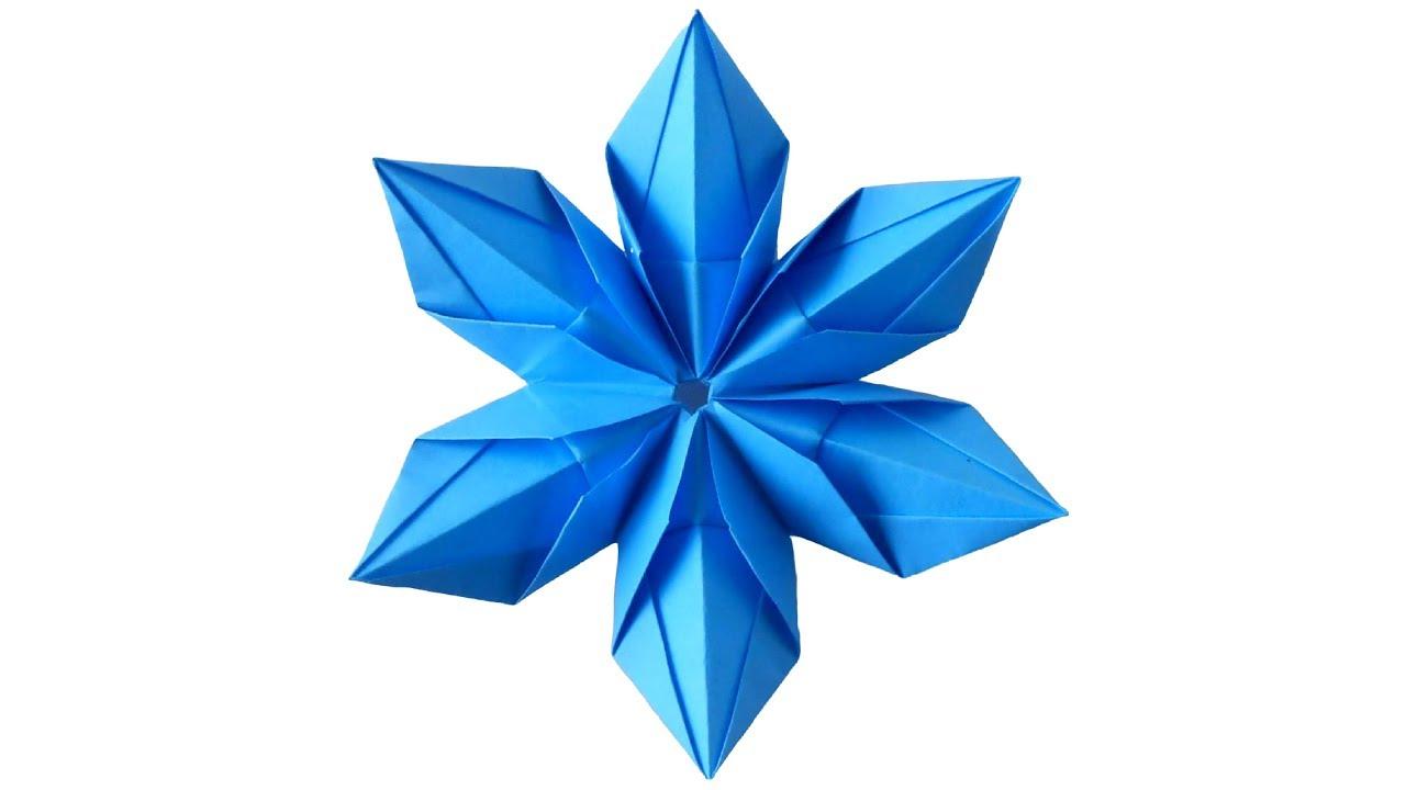 Снежинка из бумаги. Оригами Снежинки на Новый год