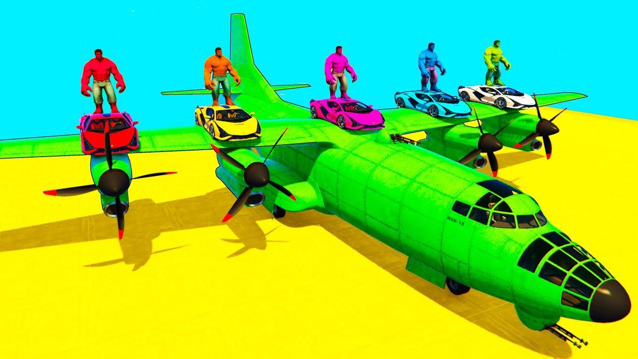 Homem-Aranha Parkour com Limusines Tratores Motos Ônibus Carros na pista de obstáculos - Gta GTA 5