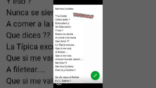 Mentira Cochina / Tito Juan