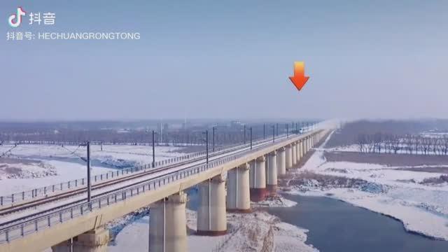 Пролёт китайского высокоскоростного поезда