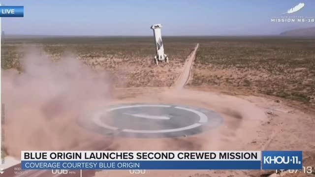 Blue Origin запустили свою 2-ю миссию с экипажем на космическом корабле New Shepard